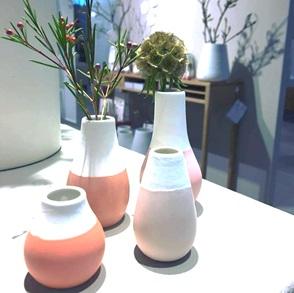 Set vases pink