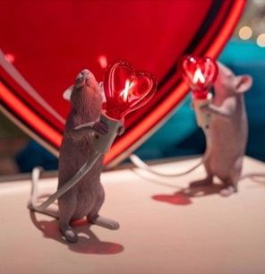 Mouse lamp LOVE