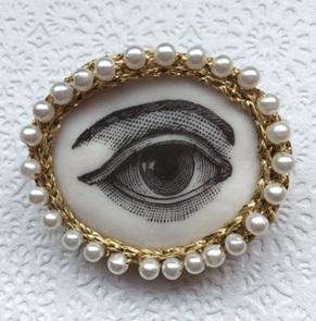 Eye Brooch large