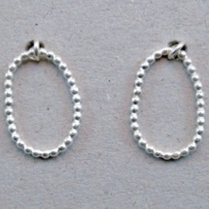 Earrings Petit Pois silver