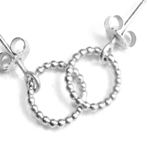 Earrings Petit Pois round silver