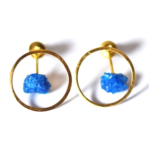 Candy Gem earrings gold blue
