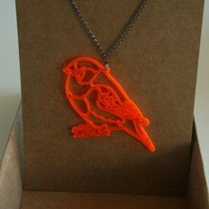 ketting orange birdie*