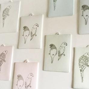 Parakeet Porcelain card