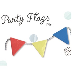 Partyflags brooch