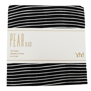 Teatowel Pear black