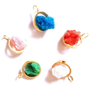 Candy Gem pendant gold red