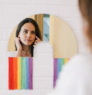 Rainbow spiegel M