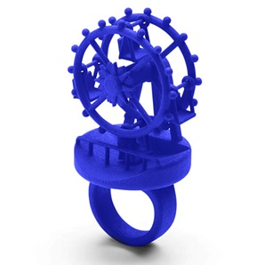 3d ring Ferriswheel blue