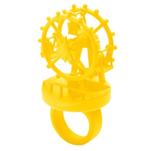 3d ring Ferriswheel yellow
