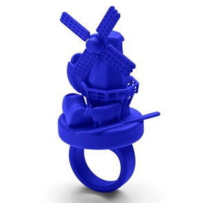 3d ring Holland blauw
