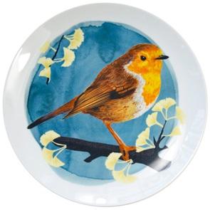 Robin bird plate