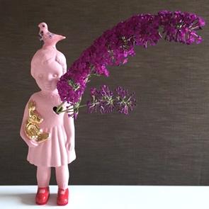 Pink doll delftsblue dove