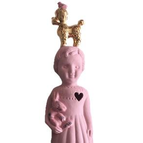 Roze popje goud poedel