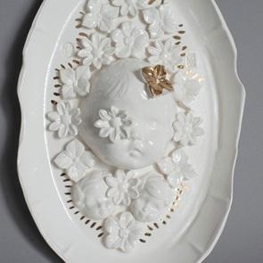 Wandplate M white A