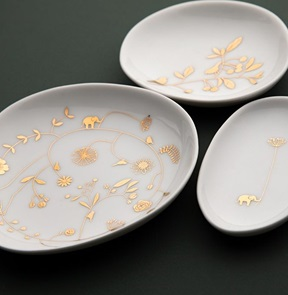 Set of 3 dish Wonderland