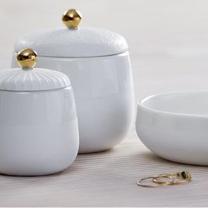 Porcelain boxes set of 3