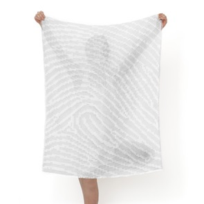 Fingerprint Shawl grijs