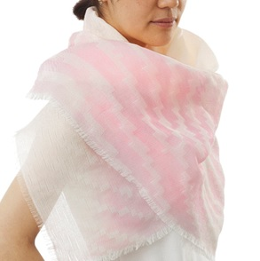 Fingerprint Shawl roze
