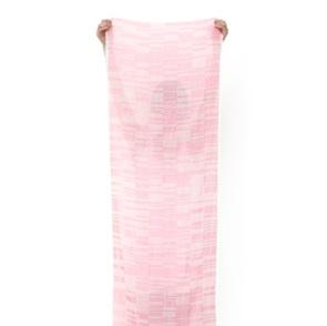 Iris-code shawl pink
