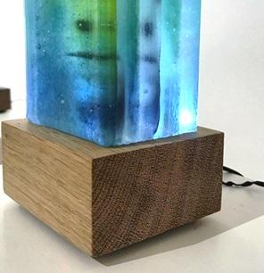 Kunst sokkel met licht