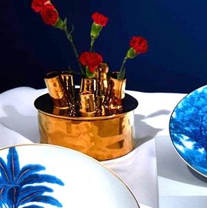 Vase Anouk spouts gold S