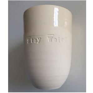 Quote cup white L