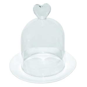 Mini glass bell Heart