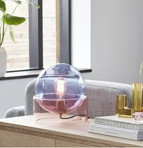 Tafellamp roze & blauw