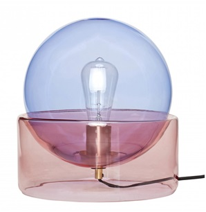 Table lamp pink & blue