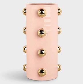 Vase dots gold
