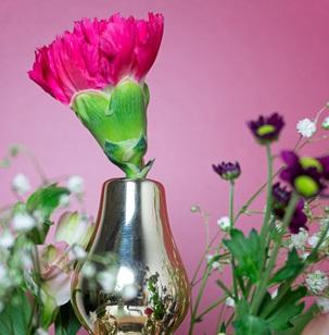 Tulp vase 3 parts Gold