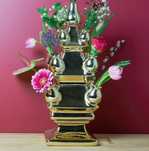 Tulpen Vaas 3-delig Goud