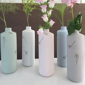 Vase caraf Insect grey