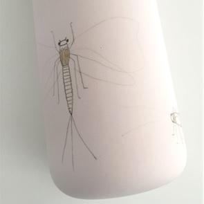 Vase caraf Insect light pink