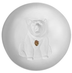 Wall plate Bear 3d
