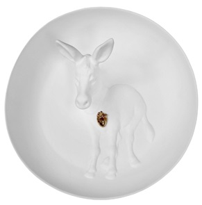 Wall plate Donkey 3d