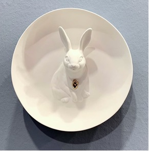 Wall plate Rabbit 3d