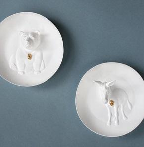 Wall plate Penguin 3d