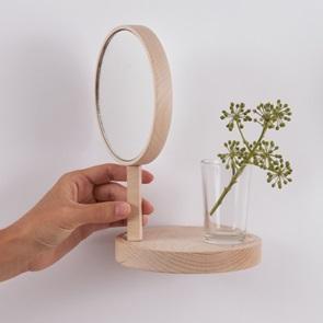 Wandplankje met spiegel