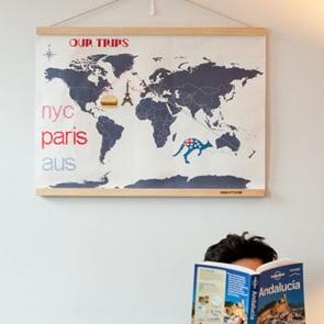 Wereldkaart DIY