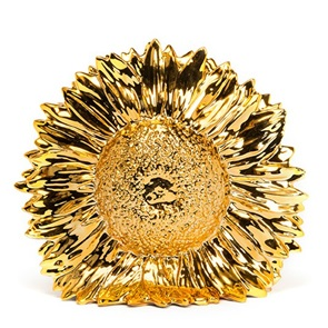 Sunflower vase gold