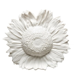Sunflower vase white