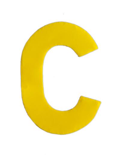 Plakletter geel klein C