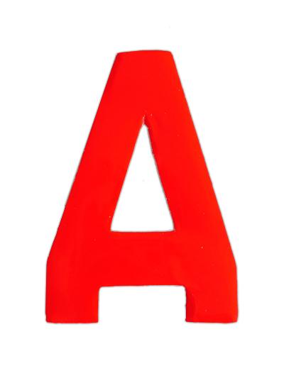 Plakletter rood klein A