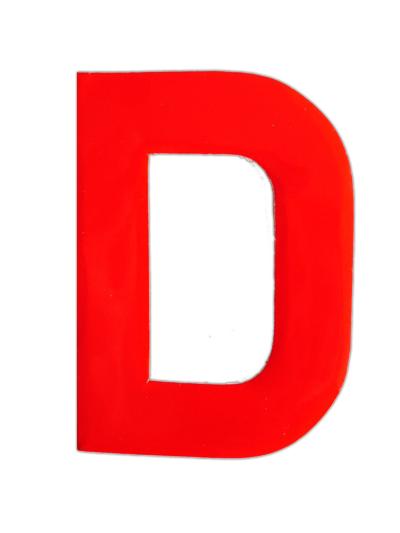 Plakletter rood klein D