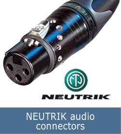 NEUTRIK audio connectors