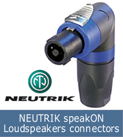 NEUTRIK speakON Loudspeakers connectors