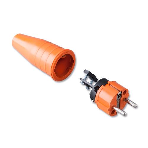 Keraf volrubber contactstop 16A 250V~ penaarde artikel 114191 Oranje
