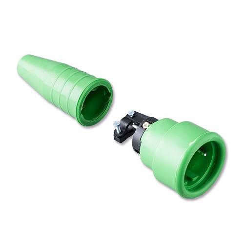 Keraf volrubber contactstop 16A 250V~ penaarde artikel 114200  Groen/Groen